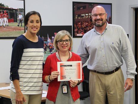 High School October Teacher of the Month Kelly O'Bannion